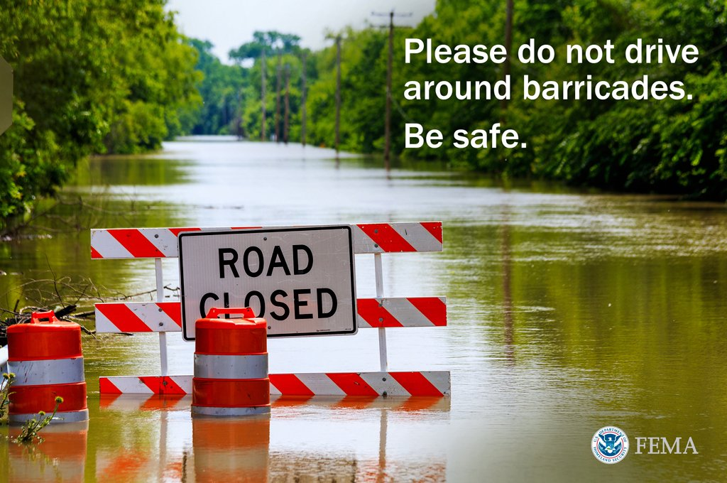 Texans check https://t.co/kTvpBGclTI for road closings. Don't drive around barricades or through flooded roads #TXWX https://t.co/npciCyaQRK