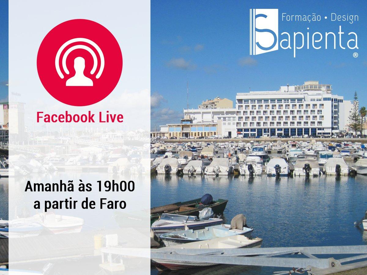 Amanhã faremos alguns directos durante a formação. Não se esqueçam de subscrever! #Sapienta #FacebookLive #Faro https://t.co/5RECuKF5Zd
