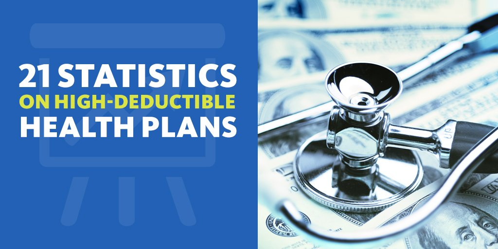 Image result for 21 statistics on high-deductible health plans
