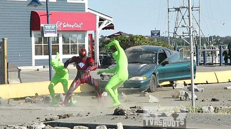 Power Rangers Set Photos 5