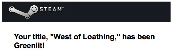 West of Loathing has been Greenlit! Thanks for your votes, everyone!   Now we jut need to finish the game.  :) https://t.co/qVislLdZ0u