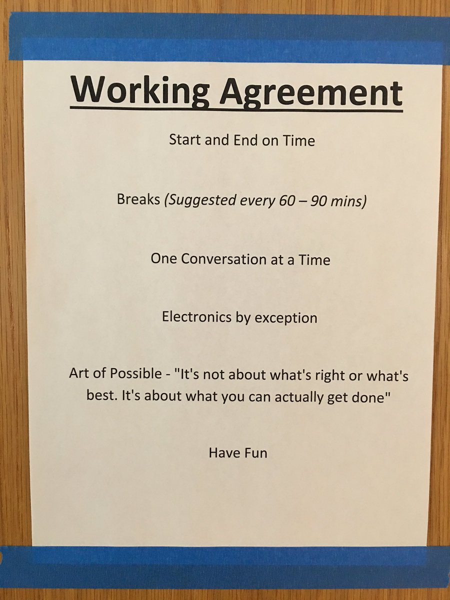 Scott Dunn On Twitter Working Agreement Posted On The Conference