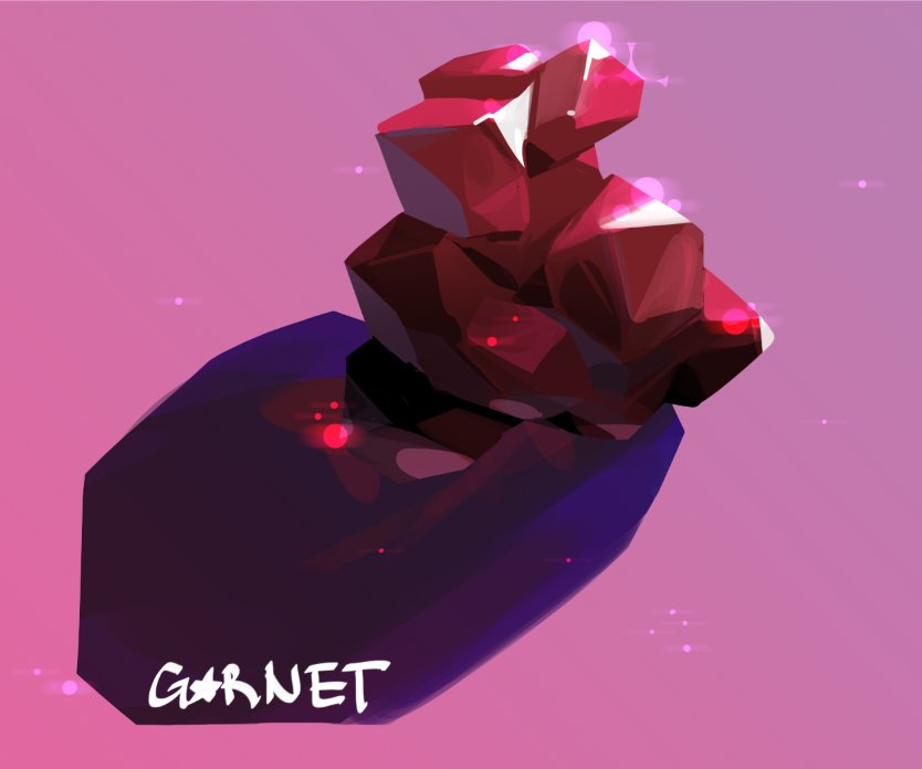 """Fanart for a show about gems"""