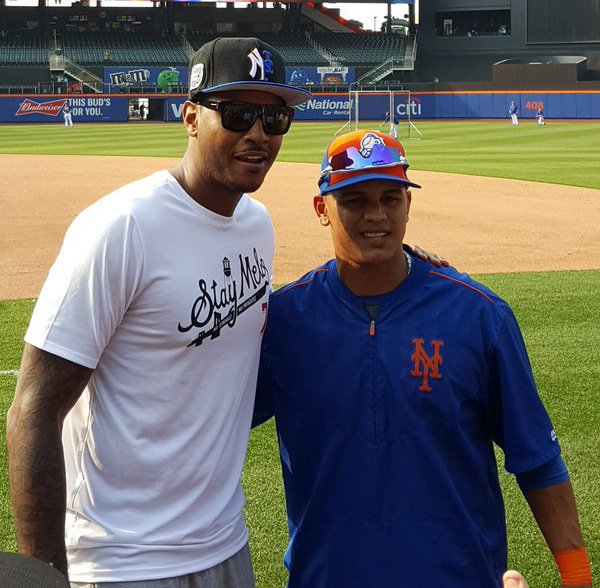 Carmelo Anthony s Mets Yankees hat causes uproar 7b1b0460dfa