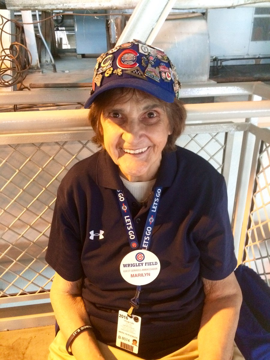 new friend Marilyn! 80 yrs been @TheCCO #ChicagoCubs ambassador for 12 yrs! @ramonapierson https://t.co/tq5RehvZb2