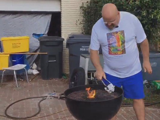 Grill brush bristle lodges in Lakeland man's stomach