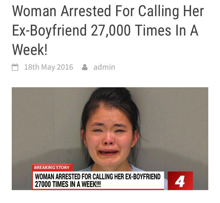 Ex boyfriend calls