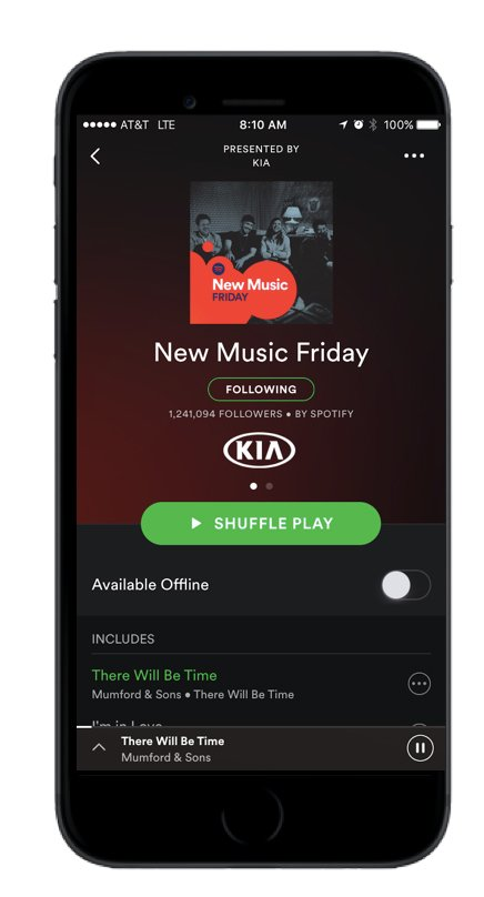 .@Spotify opens popular playlists like New Music Friday to sponsors https://t.co/Q54pCOGn4o https://t.co/F6S0st0JgS