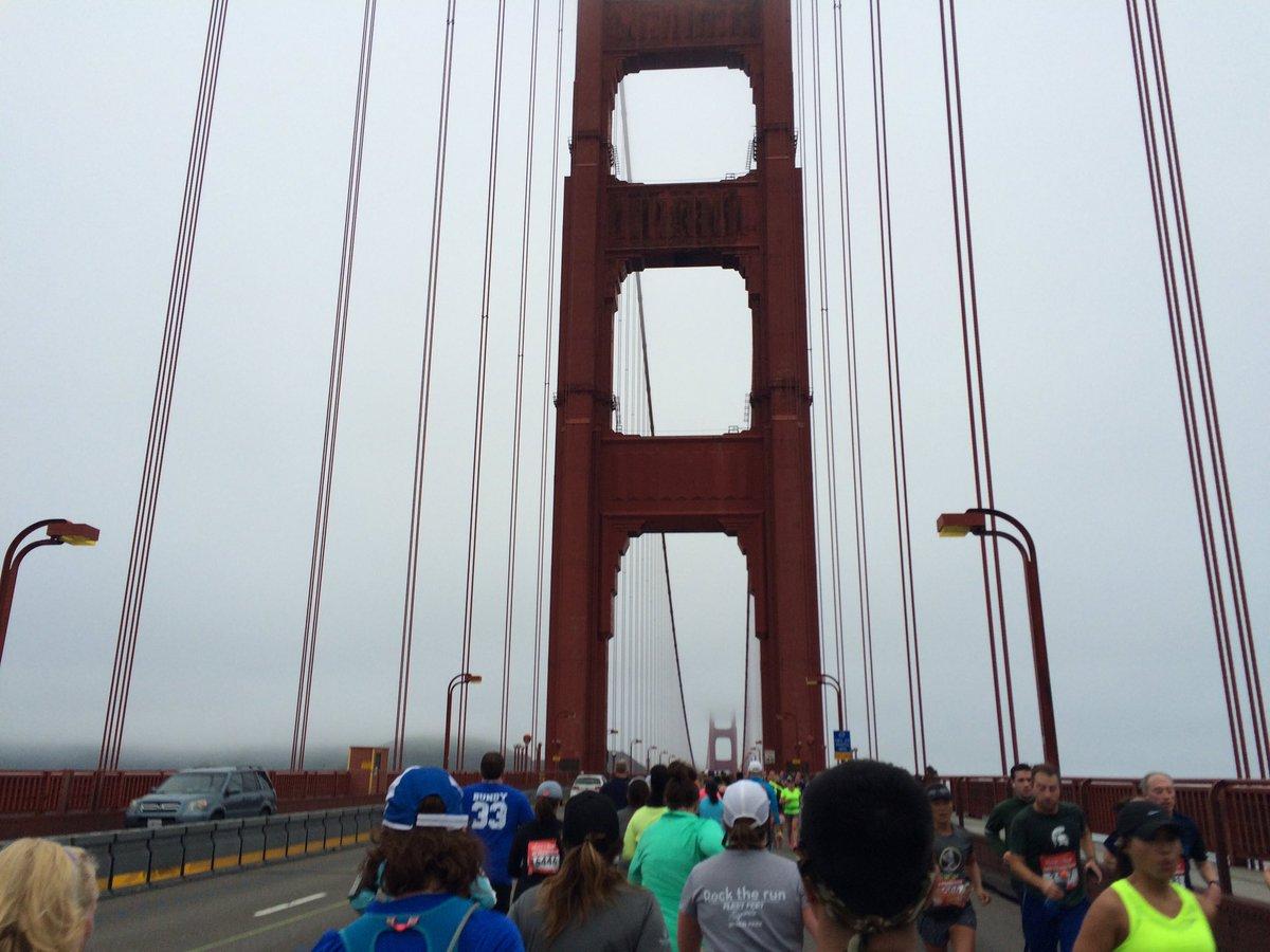 Happy Birthday Golden Gate Bridge! 🎉 My first time crossing you at the Half-Marathon 2016 #GGBridgeKQED https://t.co/2nqN7jZxVb
