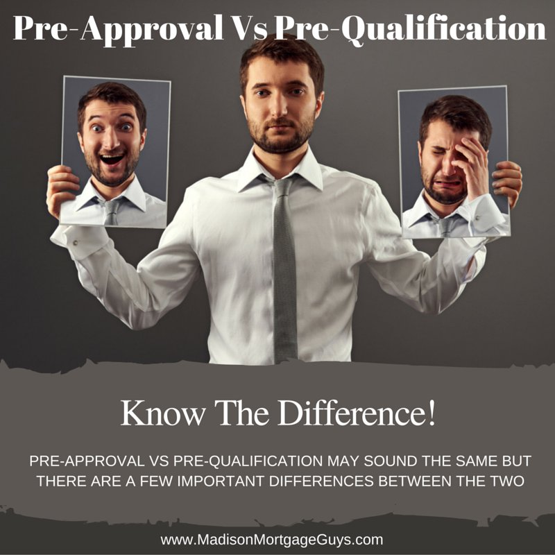 What is a Mortgage Pre-Approval Vs Pre-Qualification? https://t.co/4TkAljvWAp #RealEstate via @MadisonMortgage https://t.co/iwY8FDqjB4