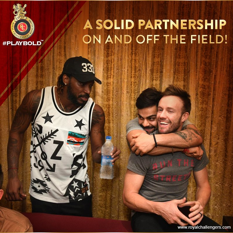 AB-VK share partnerships & a bromance like no other! We hope the duo keep building strong stands for RCB! #PlayBold https://t.co/HnNzWmmCUs
