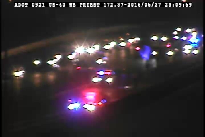 I-10 EB to U.S. 60 EB: A crash is blocking the two left lanes on the transition ramp. PhxTraffic