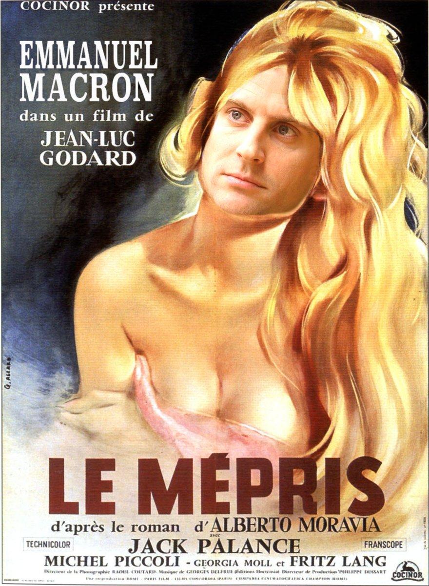"""Emmanuel #Macron dans Le Mépris. """"Et mon costard, tu l'aimes ?"""" #UnTShirtPourMacron"""