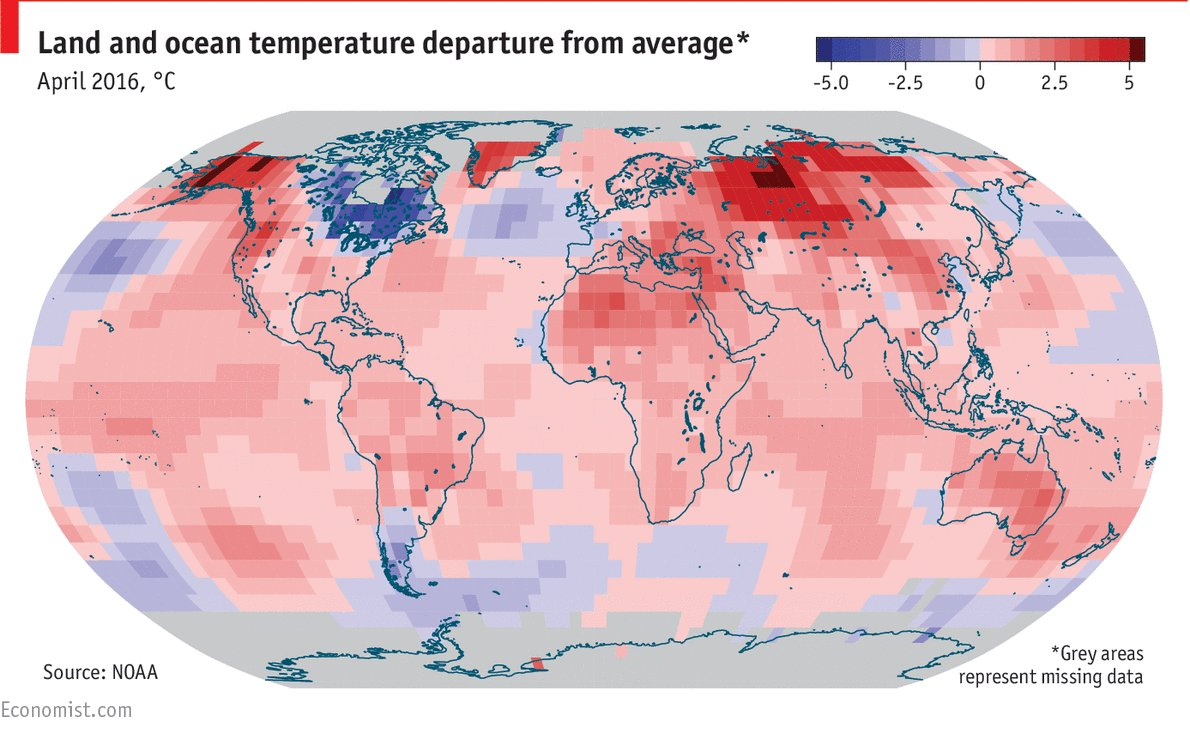 The end of El Niño sees temperatures soar across the world