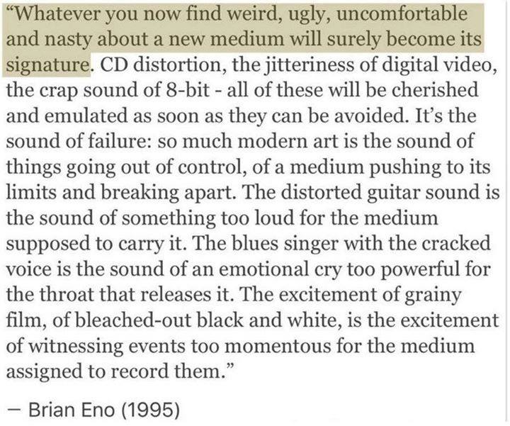The oracle #BrianEno speaking in 1995