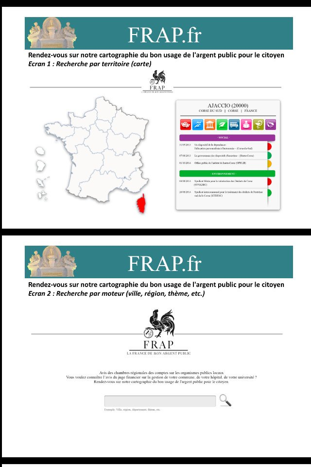 """FRAP.fr : l'équipe a réalisé une cartographie intéressante dégageant les inégalités de la """"bonne gestion"""" selon les régions"""