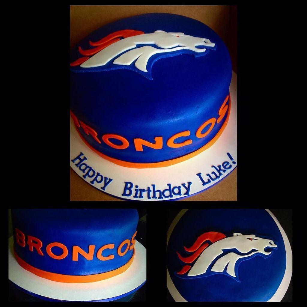 Broncos Selfie On Twitter Broncos Birthday Cake Broncos