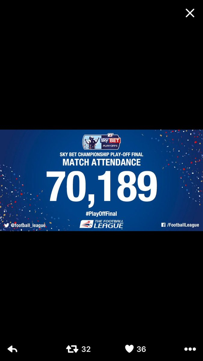 This and last year Play-Off Final attendances https://t.co/tLfCPLS9rI