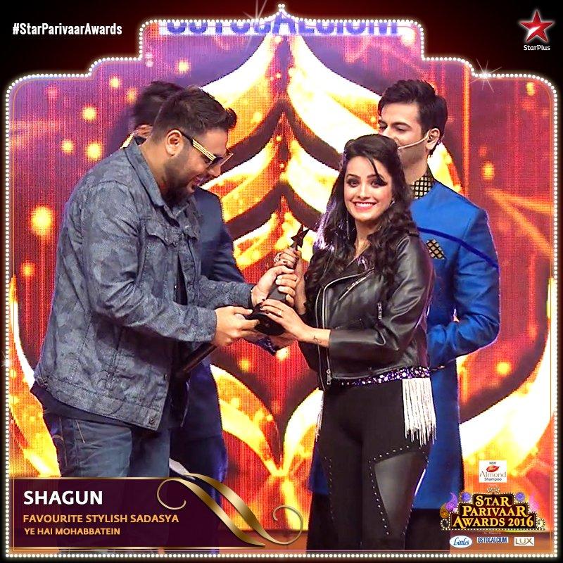 Star Parivaar Awards 2016 - Anita Hassanandani aka Shagun in Yeh Hai Mohabbatein wins award for favourite stylish sadasya