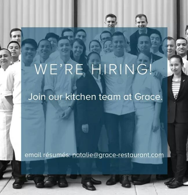 We are looking to add a few great people to our team @grace_chicago https://t.co/wqHctIbKWv