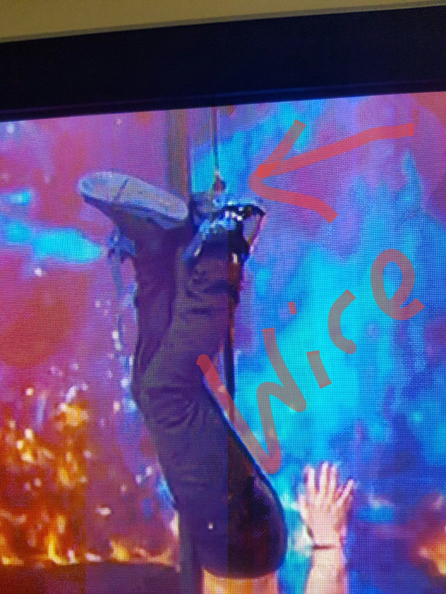 #BGTFinal not so scary when a wire stops you https://t.co/kZwI1nLMTp