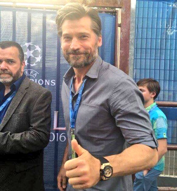 SPOTTED: Jamie Lannister makes the trip from Westeros to the San Siro. Incredible achievement!