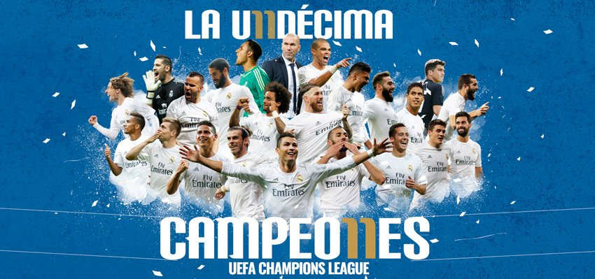 FT: Real Madrid 1-1 Atlético (5-3 on penalties)  WE ARE EUROPEAN CHAMPIONS!!!