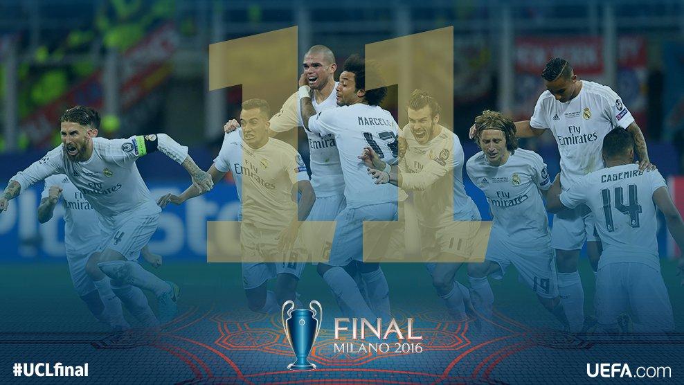 حفل تتويج ريال مدريد ببطولة دورى ابطال اوروبا 2016