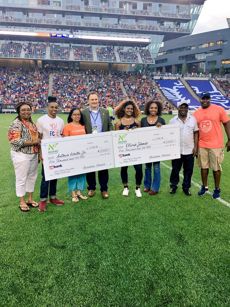 Congrats to Olivia James & Antonio Wooten our Ndukwe Scholars, special thanks to @fccincinnati #ndukwefoundation https://t.co/tKwL40cYsy