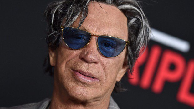 Mickey Rourke, pugile statunitense e star di Hollywood
