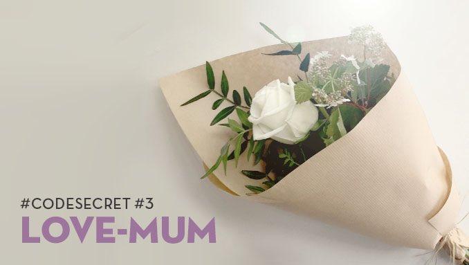 #CodeSecret #3 : LOVE-MUM / Rose blanche livrée en 2h pour 5€ #FeteDesMeres #NePasOublier #OnLuiDoitTout 29/5 only<br>http://pic.twitter.com/VN8aMqehfz