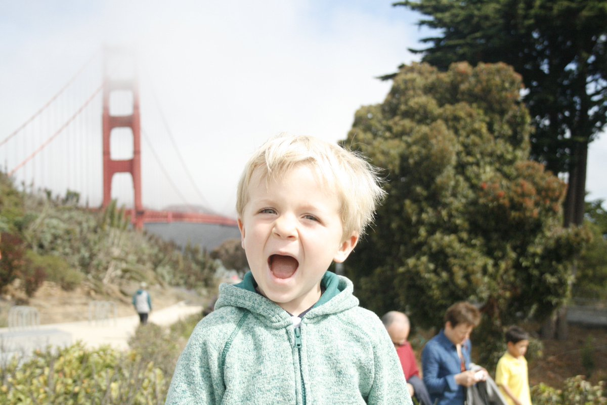 A day late, happy bday Golden Gate! My guy was SO excited to see you in person! #GGBridgeKQED https://t.co/S53U9NDCDH