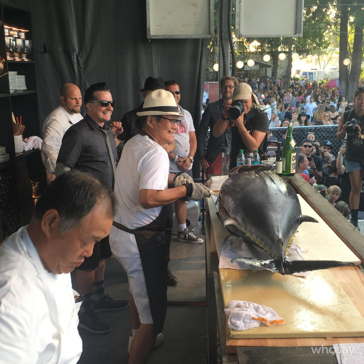 My good friend @chef_morimoto breaking down a whole tuna with green day
