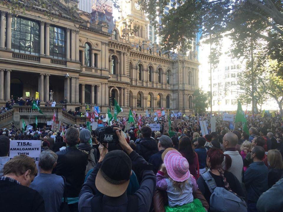 YES... Sydney protesting against Mike Baird & the way he is choking this city to its death! #CasinoMike