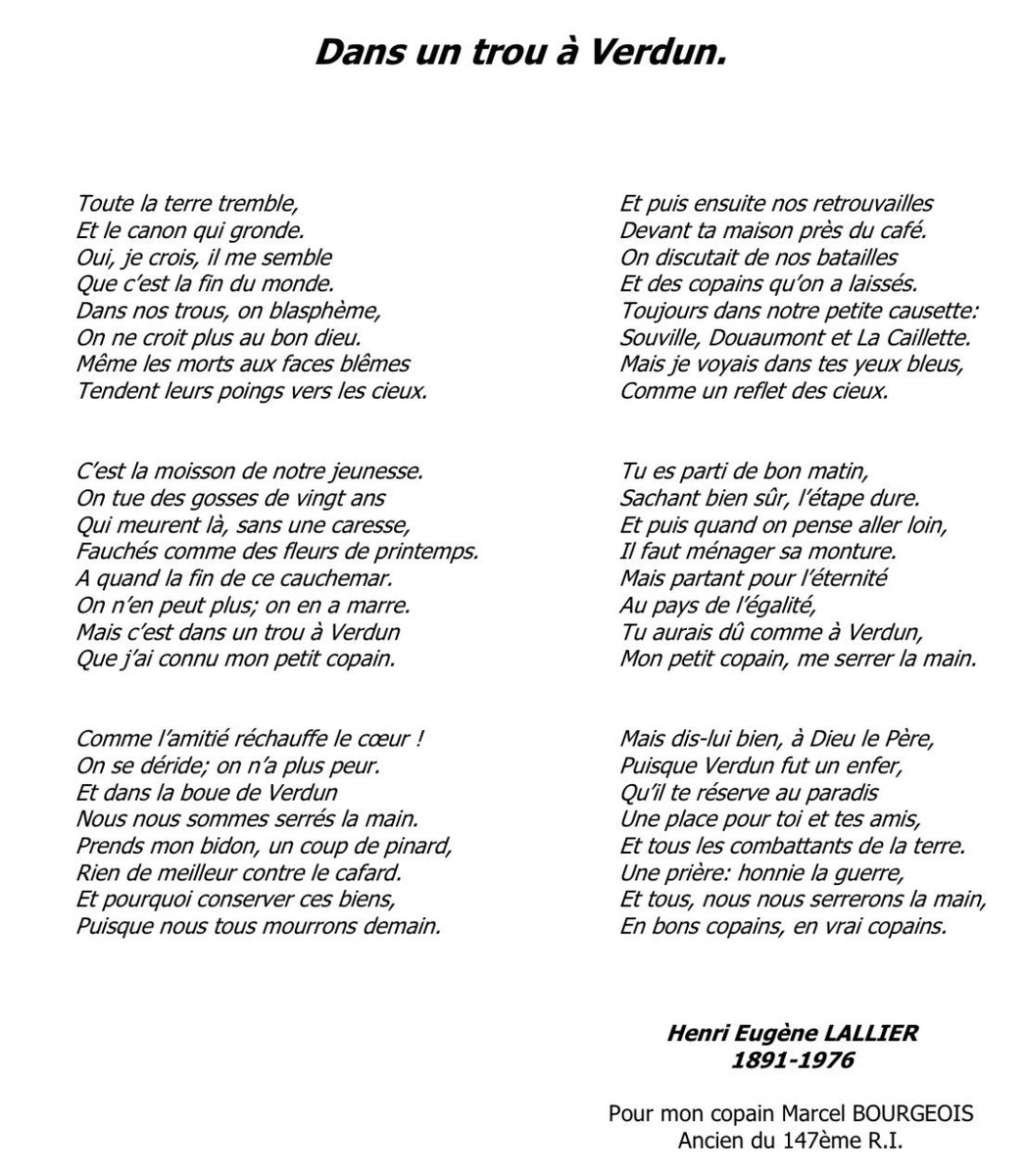 Institut Diderot On Twitter Poème Dun Poilu