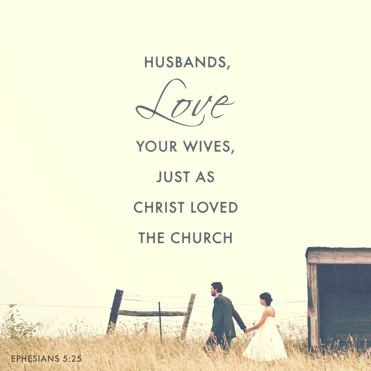 daily bible verse on twitter husbands love your wives just as