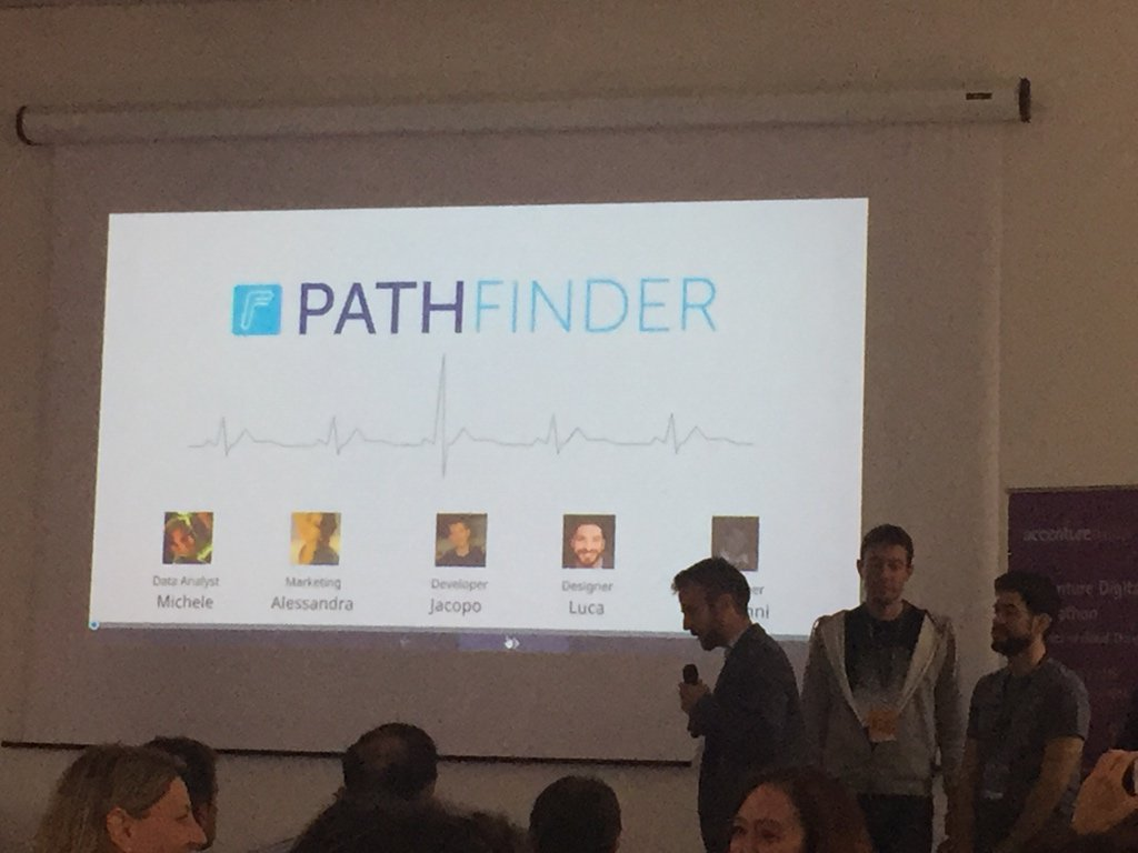 Prevenire è meglio che curare! PathFinder evolve i wearable! #accentureDigihack https://t.co/opd0gTqNp4