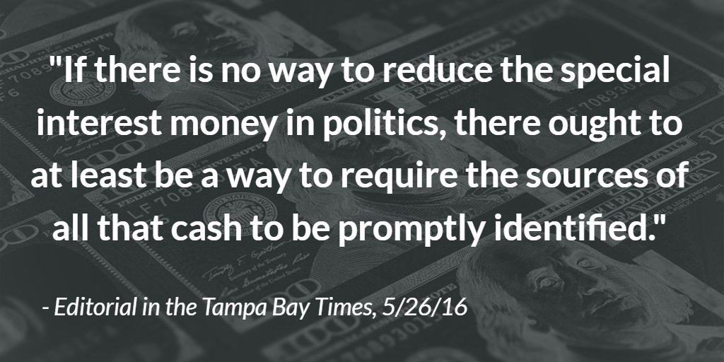 Editorial: The dangers of dark money in the Sunshine State