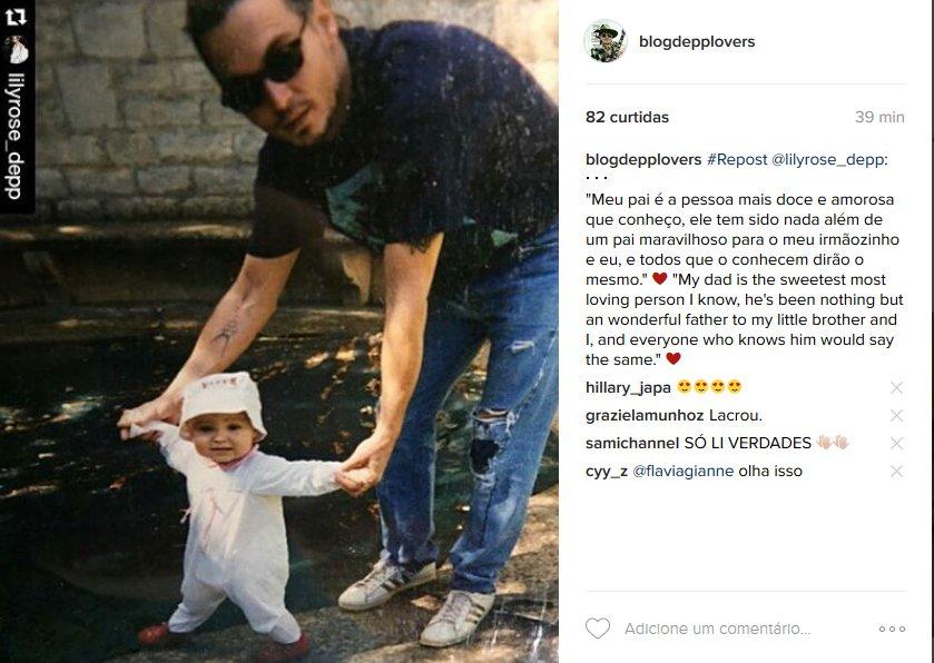 Mensagem de Lily Rose Depp  em defesa do pai. As ex mulheres Lori  e Vanessa tambem o defenderam https://t.co/vDMnwTbmja