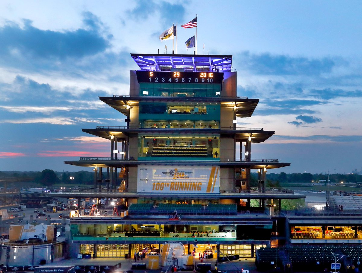 Sunrise over Indy.  Indianapolis Motor Speedway is ready for the 100th running of the Indy 500.