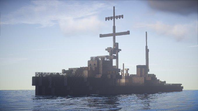 【Minecraft軍事部】第六回マイクラ軍事部版真剣創作60分1本勝負 お題「海上兵器」 【ワンクラ】