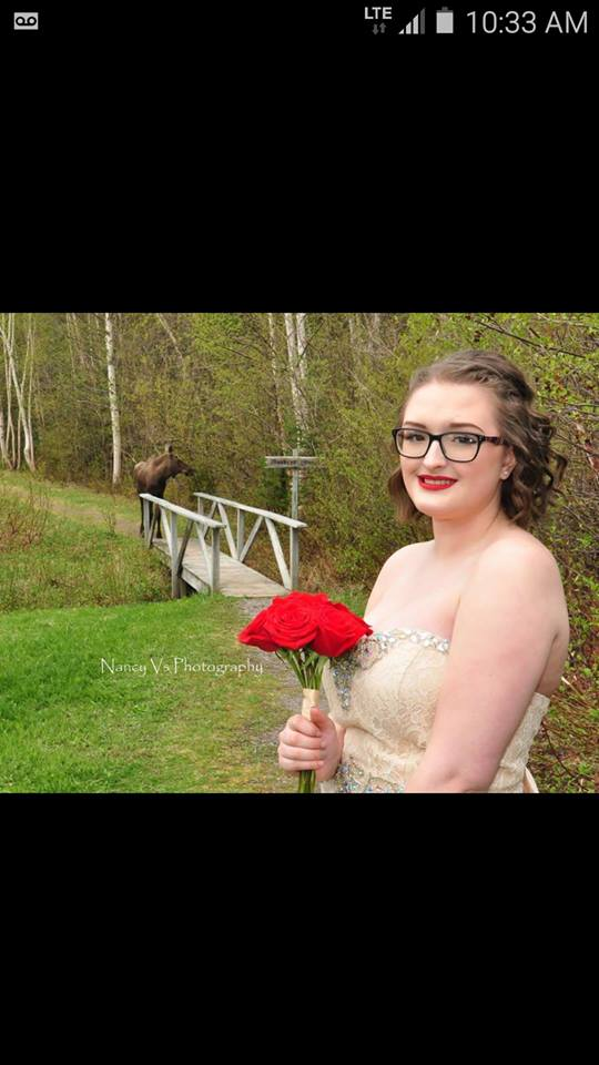 Hayley Ryan from Robert's Arm was having her grad picture taken, when a moose decided to photobomb! #cbcnl https://t.co/ETnD6NcmyV