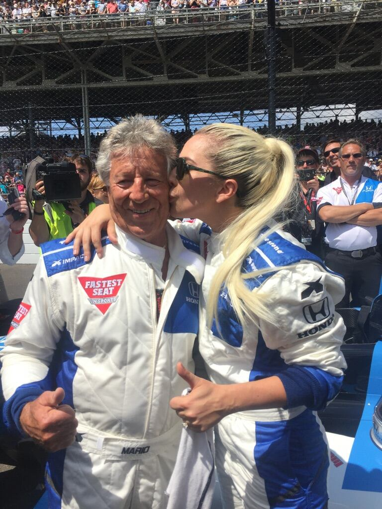 .@ladygaga is suited up for her epic experience starting the Indy 500 in my 2-seat @Honda race car.  Live on ABC https://t.co/DJebTRKNun