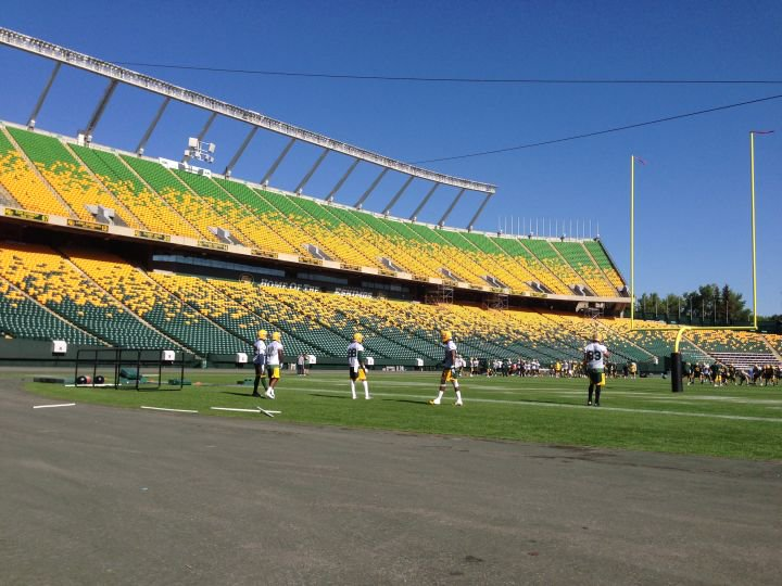 The Eskimos take to the field for the first time at training camp! More on Global News Hour at 6 Weekend yeg Esks