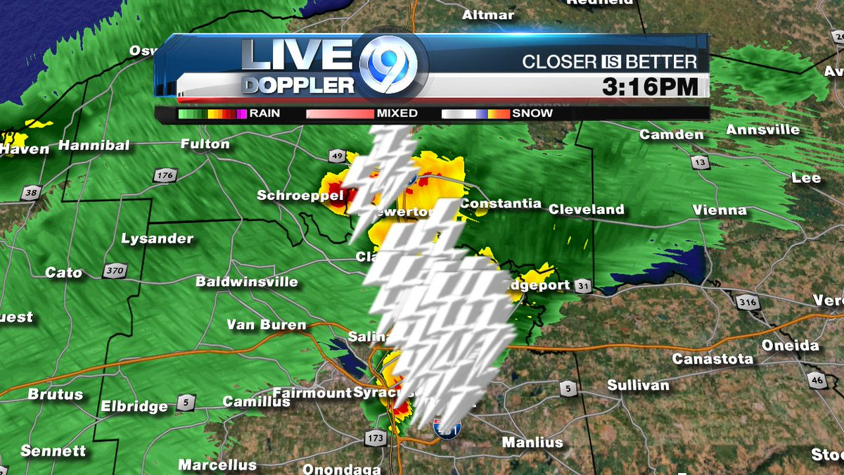 Heavy Rain Frequent Cloud To Ground Lightning In Downtown - Syracuse doppler