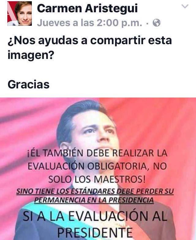 La periodista Carmen Aristegui pide compartir esta imagen del Presidente Enrique Peña Nieto, ¿tú qué opinas? https://t.co/T2Z9Z34Olc