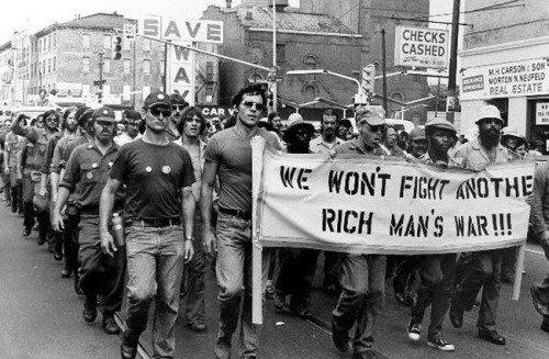 """""""We Won't Fight Another Rich Man's War!"""" Vietnam Veterans Against the War, circa 1970 #MemorialDay https://t.co/6J9kQ43gVc"""