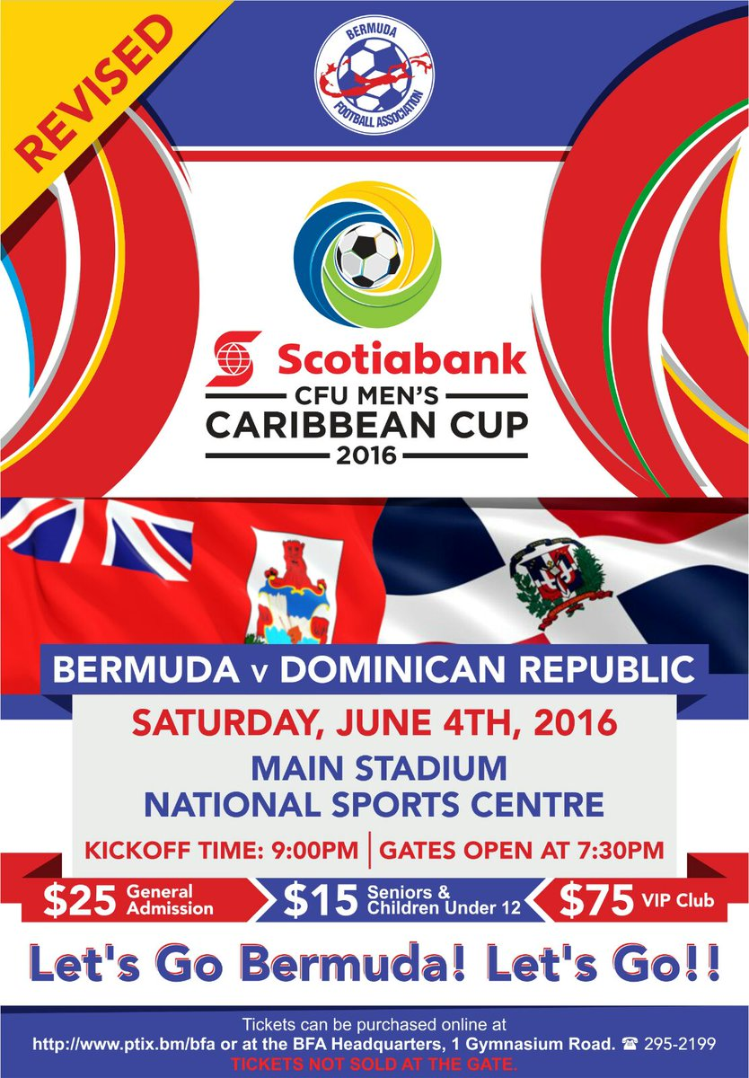 Bermuda Football On Twitter Scotiabank Cfu Caribbean Cup V Dominican Republic 9pm Sat 4 June 2016 Nsc Stadium Https T Co Hnh1vdmsjy