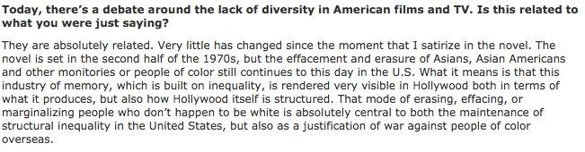 Pulitzer Prize winner @viet_t_nguyen on the treatment of Asian-Americans in pop culture: https://t.co/sAlfHlwciF https://t.co/t47MRh4f3k