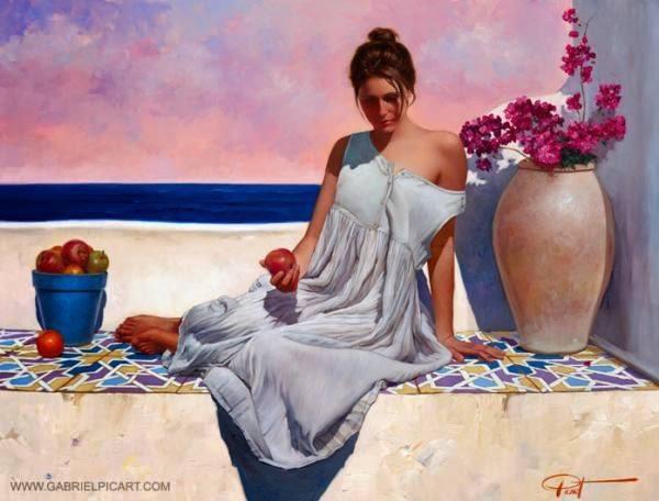 Gabriel Picart  'In a reflective mood'  #portrait #painting https://t....